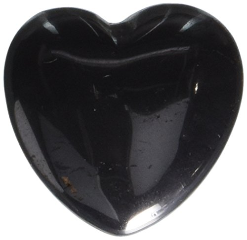 30mm Hematite Puff Heart Worry Healing Stone