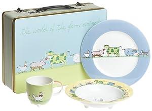 Villeroy boch farm animals 3 piece set with for Decor 6 piece lunchbox
