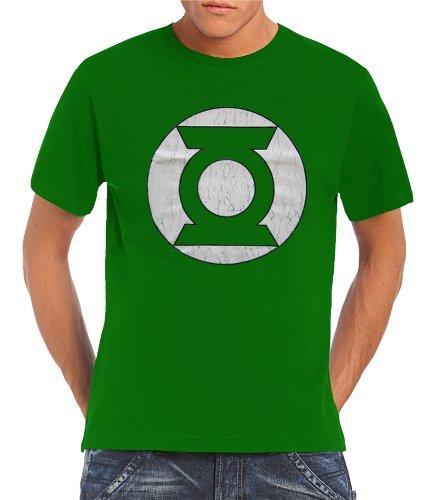 Justice League Touchlines - Green Lantern T-shirt con Logo Kelly Green, XL