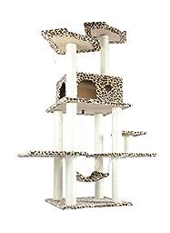 BestPet 11L Cat Tree Condo Furniture Scratch Post Pet House, 70-Inch