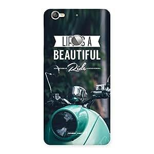 Impressive Life is a beautiful Ride Multicolor Back Case Cover for LeTV Le 1s