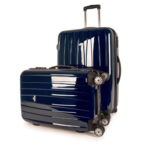 MasterGear Master Gear Travelline Polycarbonat Hartschalenkoffer, sehr leicht, 2erSet blau