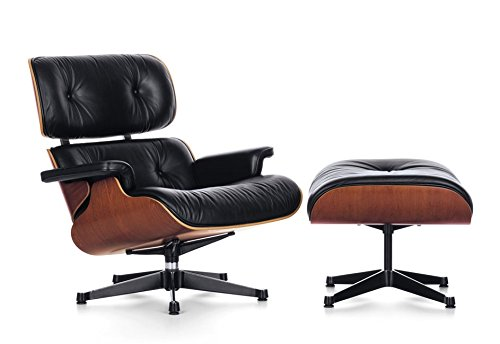 Tremendous Eames Lounge Chair And Ottoman Leather And Walnut Modern Machost Co Dining Chair Design Ideas Machostcouk