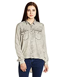 Gas Women's Button Down Shirt (85507WY04_Black_Small)