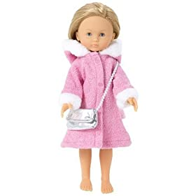 Corolle Les Cheries 13-inch Fashion Pink Coat Set