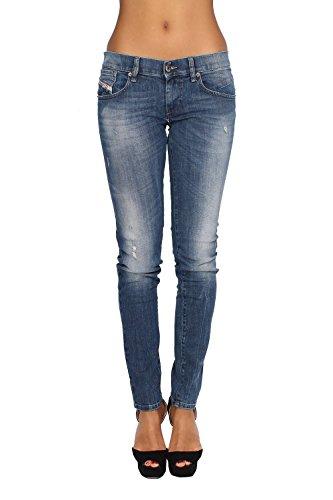 DIESEL - Jeans Donna GETLEGG R638 - Slim - Skinny - Stretch - blu, W27 / L32, 27, 32
