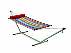 Hangit 11'FT Quilted fabric hammock swings for Garden - Multicolor