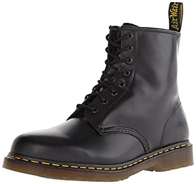 Dr. Martens Men's 1460 Originals 8 Eye Lace Up Boot,Black Smooth Leather,3 UK (4 M US Mens)