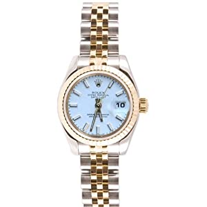 Rolex Ladys New Style Heavy Band Stainless Steel & 18K Gold Datejust Model 179173 Jubilee Band Fluted Bezel White Stick Dial