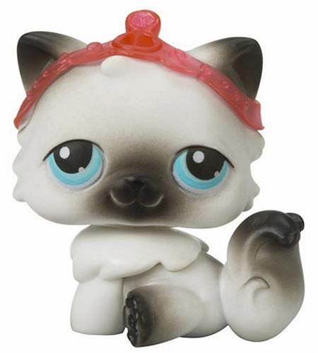 Buy Low Price Hasbro Littlest Pet Shop Exclusive Single Pack Figure Siamese Cat (B000IELLUG)