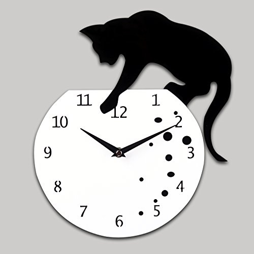 Lightinthebox 12H Naughty Cat Acrylic Wall Clock with DIY Dial and Hands Feature