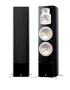 Yamaha NS 777 Stand Lautsprecher System (3-Wege Bassreflex, Waveguidehorn, 100W) klavierlackschwarz, 1 Stueck