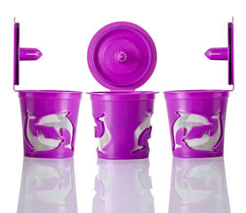 GOLOHO Purple Reusable K-cups Eco Single Brew for Keurig Coffee Pack of 3 (Keurig 130 Filter compare prices)