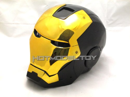 Iron Man Mark VII,III Cosplay Helmet 1/1 Scale Black & Gold Version