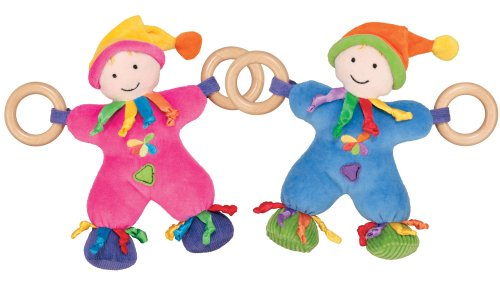 41HNcexIleL Cheap Buy  Sassy Earth Brights Wooden Cuddle Doll Toy, Colors May Vary