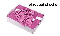 Winco Coat Checks, Pink, 500 Per Box, Set of 20 Boxes