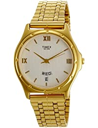 amazon in gold plated men watches timex classics analog white dial men s watch bw02