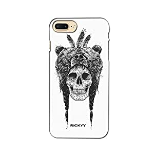 RICKYY _ip7 Plus_1303 Printed Matte designer Skull Wearing Bear case for Apple iPhone 7 Plus