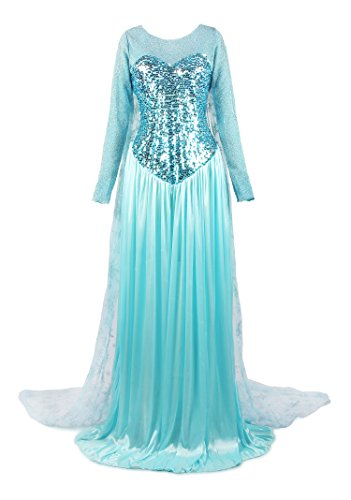 ReliBeauty Women's Elegent Princess Elsa Dress Costume