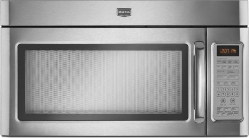 Maytag: MMV6180W 1.8 cu. ft. Combination Range Hood-Microwave with 1100 Watts, Five-Speed 300 CFM Venting System, 10 Power Levels, Sensor and Convection Cooking Options, Stainless Steel Interior and Incandescent Cooktop Lighting
