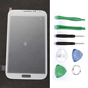 Glass Lens for Samsung Galaxy Note 2 GT-N7100 +Tools White