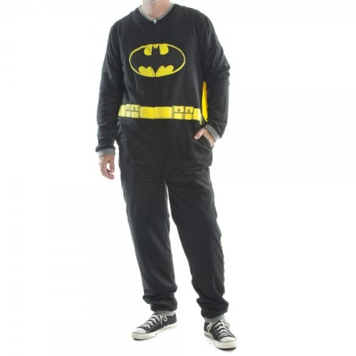 Batman Union Suit Men's Pajamas with Cape