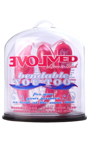 Evolved Bendable You Too Pink Clitoral Anal And G-Spot Vibrator