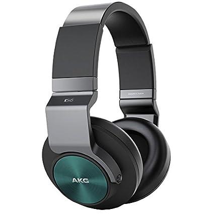 AKG K545BOR Casque Audio Fermé avec Commande Universelle et Micro pour Apple Noir/Turquoise
