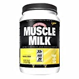Genuine Muscle Milk Banana Creme Flavored 32g Lean Protein, Lactose Free, 20 Vitamins & Minerals - Lean Muscle Protein Powder 2.01 Lbs (32.1 Oz) JAR - Cos17