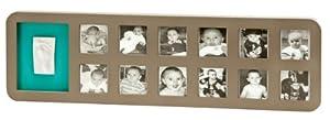 Baby Art First Year 34120105 - Kit cuadro (Marrón/Turquesa/Amarillo) por Dorel en BebeHogar.com