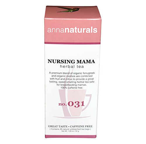 Anna Naturals Nursing Mother's Tea with Organic Fenugreek - Boost Milk Production, 26 Bags (Anna Naturals compare prices)
