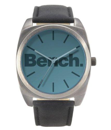 Bench Men's Quartz Analogue Watch BC0379GYBKA with Black Strap
