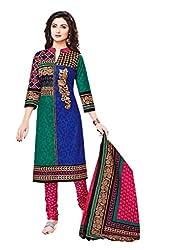 Aarvi Women's Cotton Unstiched Dress Material Multicolor -CV00117