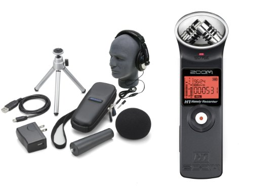 Zoom H1 Pak Portable Digital Recorder With Accessories Bundle and Headphones