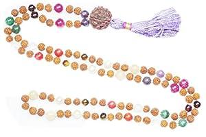 Chakra Mala Beads Japamala 108 Rudraksha Meditation Malas Healing Mala