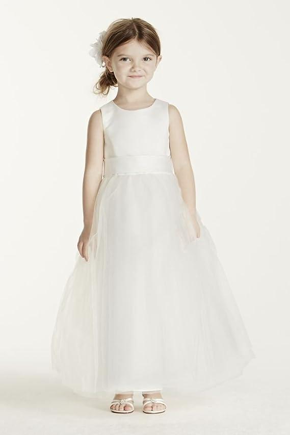 SAMPLE Satin Sleeveless Bodice with Tulle Skirt Style AI17040260