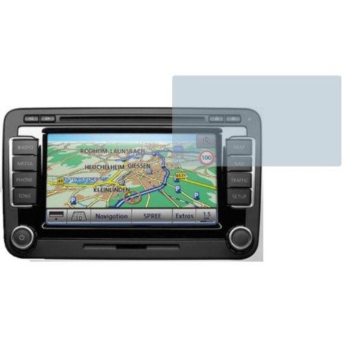 2x-Entspiegelnde-Displayschutzfolie-Bildschirmschutzfolie-von-4ProTec-fr-VW-Navi-RNS-510-Modell-2013-Nahezu-blendfreie-Antireflexfolie