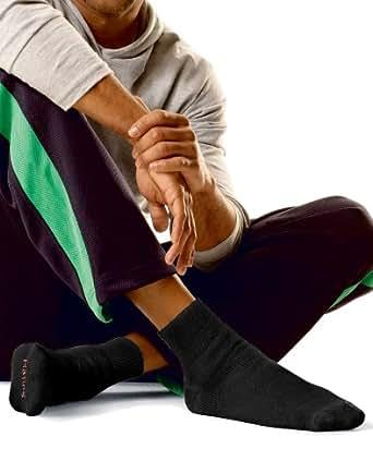 Hanes Men's Full Cushion Socks Ankle Black, 6-12-Black (6 pack)