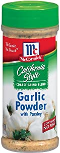 McCormick California Style Coarse Grind Blend Garlic Powder with Parsley, 6-Ounce Units (Pack of 6 )