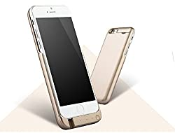 JLW Exclusive Power Charging Mobile Case & Cover of 7000 mAh for Apple iPhone 6s (Gold)