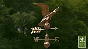 Good Directions 955P Smithsonian Eagle Weathervane, Polished Copper by Good Directions, Inc.