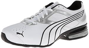 PUMA Men's Tazon 5 Cross-Training Shoe,White/Silver/Black,11 M US