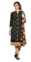 KANHA TRADING Women's Chanderi Cotton Dress Material(KANHA TRADING 710_Multicolor )