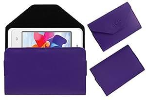 Acm Premium Pouch Case For Intex Aqua R3 Flip Flap Cover Holder Purple