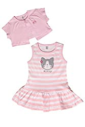 TOFFY HOUSE Pink Frock for Kids