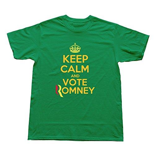 Boyfriend Holidays Unique Keep Calm Vote Romney Hq T-Shirt Size M Color Kellygreen