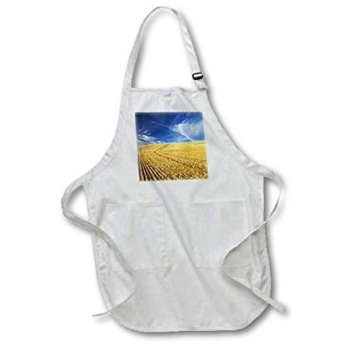 Danita Delimont - Farms - Farm Fields, Harvest Wheat, Palouse, Washington, USA - US48 TEG0425 - Terry Eggers - Full Length Apron with Pockets 22w x 30l (apr_148727_1)