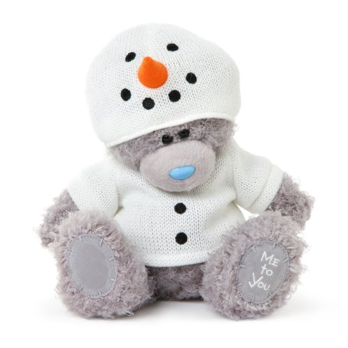 Me to You 7-inch Tatty Teddy Bear wearing a Cute Snowman Outfit (Grey)