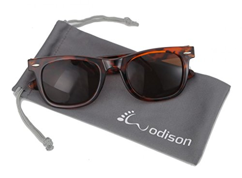 WODISON 80's Classic Style Vintage Wayfarer Nerd Sunglasses Eyewear Leopard Frame Brown Lens (Vintage Glasses 80 compare prices)