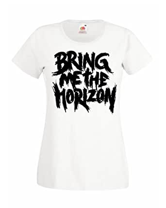 Bring Me The Horizon Lady Fit T-Shirt (Extra Large (14-16), White)